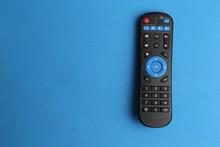 TV Remote Control In Color Background
