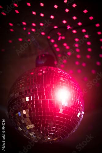 Shiny disco ball in a night club - 319144736