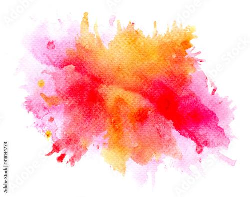 brush pink watercolor on paper. Wallpaper Mural