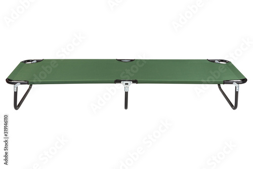 green clamshell for camping or for travel, on a white background, horizontal pos Fototapet
