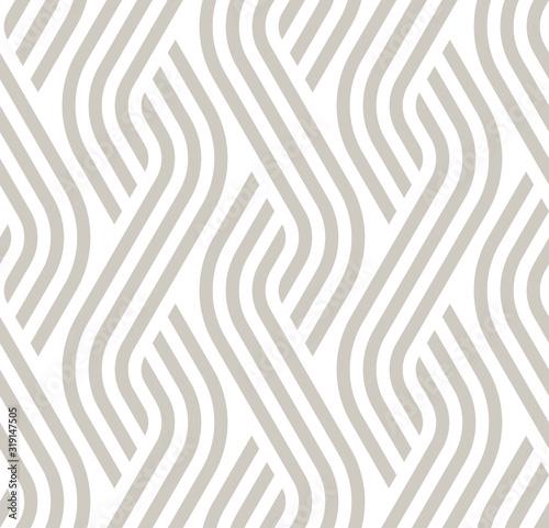 Fotomural Vector geometric diagonal fabric waves seamless texture