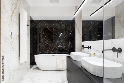 Cuadros en Lienzo Elegant bathroom in marble