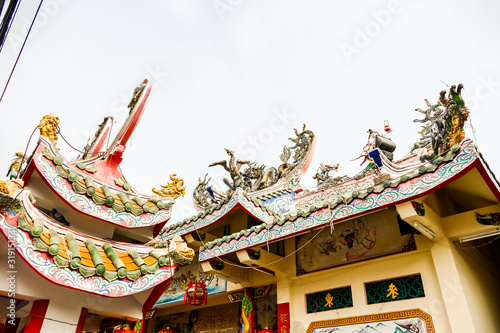 chinese temple in thailand, digital photo picture as a background Canvas Print