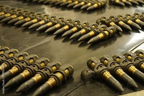 Obraz na plátně Close-Up Of Bullets