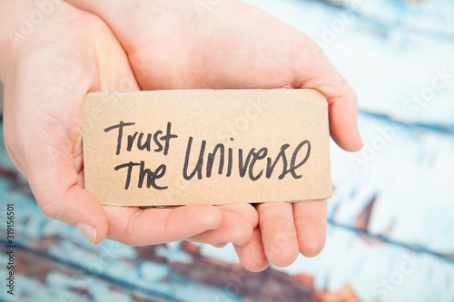 Obraz Trust the universe, law of attraction concept - fototapety do salonu