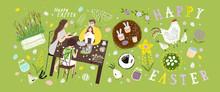 Happy Easter! Vector Illustrat...