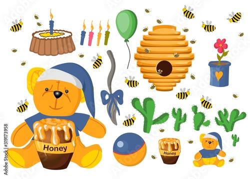 Photo Sticker set Winnie the Pooh