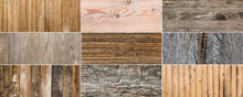 Texture Set Of Old Wooden Surface Background