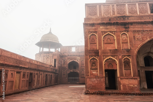 Photo agra fort interior architecture