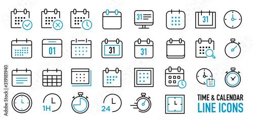 Fototapeta calendar & time