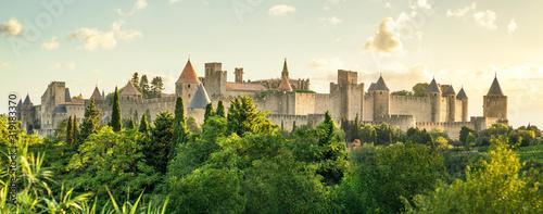 image Carcassonne bei Sonnenaufgangdescription Canvas Print