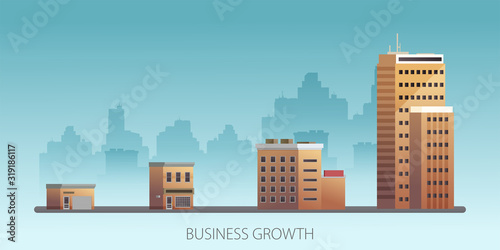 Growth of business Poster Mural XXL