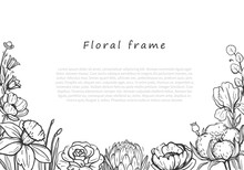 Beautiful Floral Horizontal Fr...
