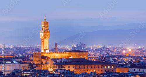 Obraz na plátně Palazzo Vecchio or Palazzo della Signoria in Florence, Italy