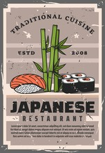 Japanese Sushi Rolls And Fish ...