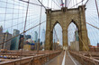 People walking in Brooklyn bridge at day time