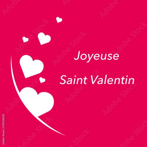 Joyeuse Saint Valentin Wallpaper Mural