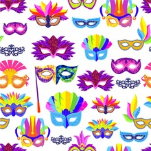 Venice Carnival Mask With Feat...