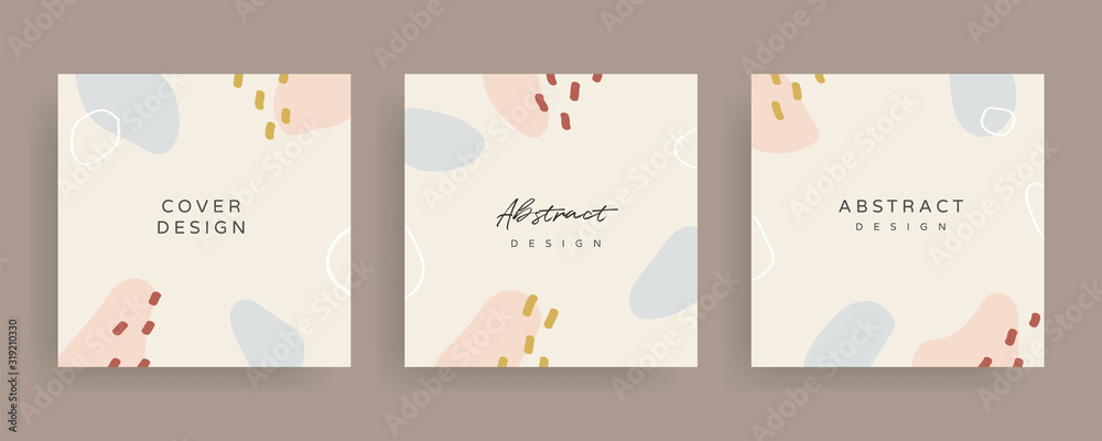 Social media Posts and Stories Template, textures and shapes for Organic design cover, Linocut Elements , invitation, party invite card template, creative minimal trendy style Vector illustration.