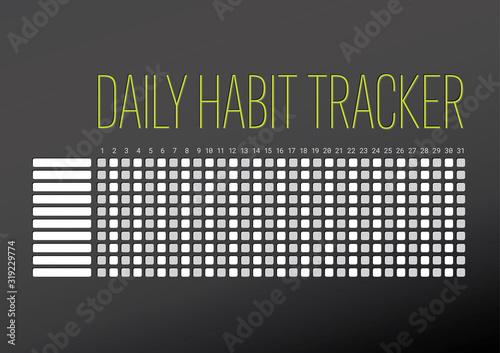 Stampa su Tela Daily habit tracker template