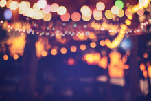 Blurred Bokeh Light On Sunset ...