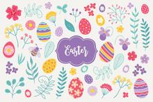 Easter Design Elements - Flowe...