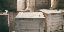 Crates, Closed Wooden Boxes Ba...