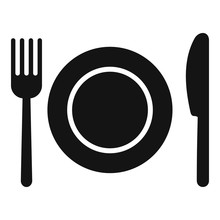 Kitchen Dishes Icon. Simple Il...