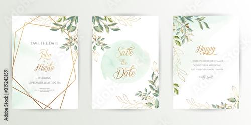 Fotografía Watercolor wedding set