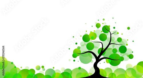 albero, piante, primavera, natura