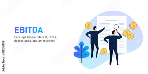 Photo EBITDA Earnings before interest, tax, depreciation and amortization