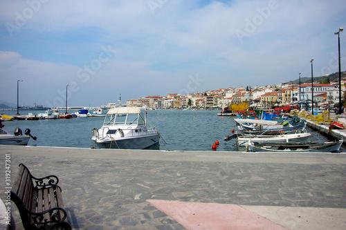 Fototapeta Sguardo sul porto di Samos (Grecia) obraz na płótnie
