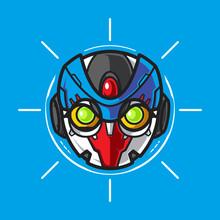 Mecha Robot Head Logo, Templat...