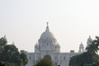 The Victoria Memorial, white marbled opulent structure iconic infrastructure of the old Imperial British Raj, a museum and tourist destination and heritage place. Kolkata, West Bengal, India May 2019