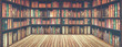 canvas print picture - blurred bookshelf Many old books in a book shop or library