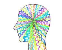 Disegno Concettuale Forza Del Cervello. Neuroni Colorati. Neurologia. Sistema Nervoso.