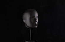 Black Mannequin Head Isolated ...