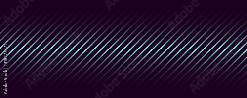 Abstract vector background geometric gradient lines on a dark gradient Canvas Print