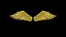 Gold Wings Alpha Matte 3D Anim...