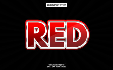 Red luxury editable text effect