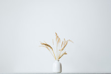 Spikelets Or Wheat In A Vase O...