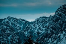 Panoramic Shot Of Snow Covered...
