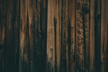 Closeup Shot Of A Wood Fence W...