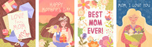 Set Of Four Mothers Day Card D...