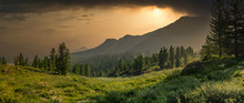 Panoramic View With Mountain R...
