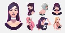 Set Of Of Sexy Women Illustrat...