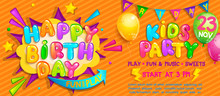 Invitation For Kids Party On B...