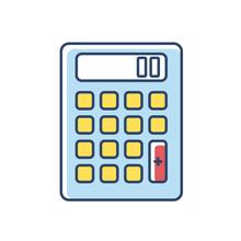 Pocket Calculator RGB Color Ic...
