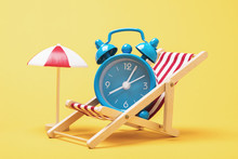 Alarm Clock In A Deck Chair Wi...