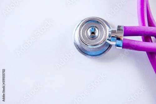 Fototapeta Medicine concept. Stethoscope on the table obraz na płótnie